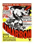 Cimarron  Richard Dix  Irene Dunne on Window Card  1931