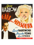 Girl from Missouri  Franchot Tone  Jean Harlow on Window Card  1934