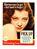Pick-Up  Sylvia Sidney on Midget Window Card  1933