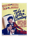 Take a Letter  Darling  Fred Macmurray  Rosalind Russell on Window Card  1942