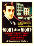 Night after Night  George Raft on Midget Window Card  1932
