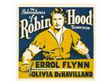 The Adventures of Robin Hood  Errol Flynn on Jumbo Window Card  1938