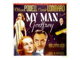 My Man Godfrey  Carole Lombard  William Powell on Jumbo Window Card  1936