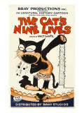 The Cat&#39;s Nine Lives  Cartoon Animation Poster Art  1926