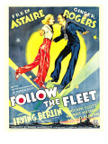Follow the Fleet  Ginger Rogers  Fred Astaire on Window Card  1936