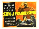 Son of Frankenstein  Boris Karloff  Boris Karloff  Basil Rathbone  Bela Lugosi  1939