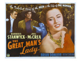 The Great Man's Lady  Brian Donlevy  Joel Mccrea  Barbara Stanwyck  1942