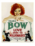 Love Among the Millionaires  Clara Bow on Window Card  1930
