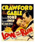 Love on the Run  Joan Crawford  Clark Gable on Window Card  1936