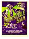 &quot;The Invisible Man&quot;  Claude Rains  Henry Travers  Gloria Stuart  William Harrigan on Window Card