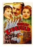 The Great Ziegfeld  Luise Rainer  William Powell  Myrna Loy on Midget Window Card  1936