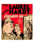 Pardon Us  Oliver Hardy  Stan Laurel on Window Card  1931