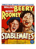 Stablemates  Mickey Rooney  Wallace Beery on Window Card  1938