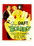 Bolero  George Raft  Carole Lombard on Window Card  1934