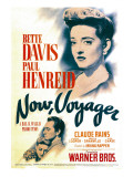 Now  Voyager  Bette Davis  Bette Davis  Paul Henreid on Midget Window Card  1942