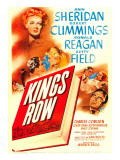 King's Row  Ann Sheridan  Robert Cummings  Betty Field  Ronald Reagan on Midget Window Card  1942