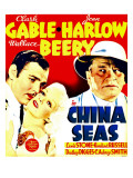China Seas  Clark Gable  Jean Harlow  Wallace Beery on Window Card  1935