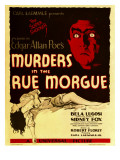 Murders in the Rue Morgue  Bela Lugosi on Window Card  1932