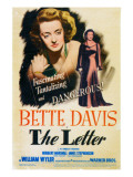 The Letter  Bette Davis on Midget Window Card  1941