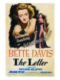 The Letter  Bette Davis on Midget Window Card  1941
