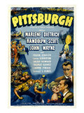 Pittsburgh  Clockwise from Right: John Wayne  Randolph Scott  Marlene Dietrich  1942