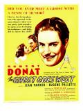 Ghost Goes West  Jean Parker  Robert Donat on Window Card  1935