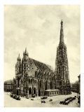 St Stephen's Cathedral in Vienna (Stefans Dom)  at the turn of the century