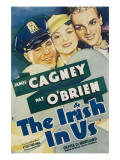 The Irish in Us  Pat O'Brien  Olivia De Havilland  James Cagney on Window Card  1935