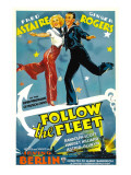 Follow the Fleet  Ginger Rogers  Fred Astaire  1936  Poster Art