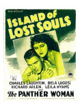 Island of Lost Souls  Richard Arlen  Kathleen Burke on Window Card  1933