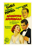 Manhattan Melodrama  William Powell  Myrna Loy  Clark Gable  1934