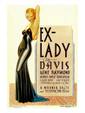 Ex-Lady  Bette Davis on Midget Window Card  1933
