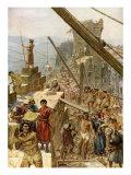 Rebuilding the walls of Jerusalem under Nehemiah  Nehmiah 4 : 16-18