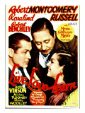 Live Love and Learn  Robert Montgomery  Robert Benchley  Rosalind Russell on Window Card  1937
