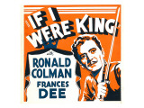 If I Were King  Ronald Colman on Window Card  1938
