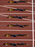 Starting Blocks for the Start of a Sprint Race
