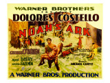 Noah's Ark  Half-Sheet Poster  Foreground Center: George O'Brien Carrying Dolores Costello  1928