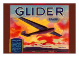 Glider Orange Crate Label