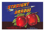 Straight Arrow Apple Crate Label