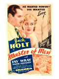 Master of Men  Jack Holt  Fay Wray on Midget Window Card  1933