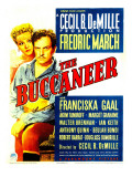 The Buccaneer  Franciska Gaal  Fredric March on Midget Window Card  1938