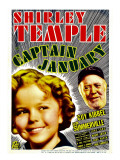 Captain January  Shirley Temple  Guy Kibbee on Midget Window Card  1936