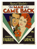 The Man Who Came Back  Charles Farrell  Janet Gaynor on Window Card  1931
