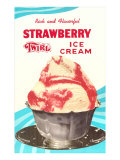 Strawberry Twirl Ice Cream
