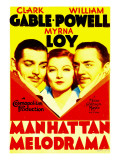 Manhattan Melodrama  Clark Gable  Myrna Loy  William Powell on Midget Window Card  1934