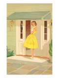 Fifties Yellow Dress