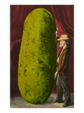 Man with Giant Watermelon
