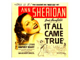 It All Came True  Ann Sheridan on Window Card  1940