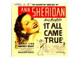 It All Came True  Ann Sheridan on Window Card  1940