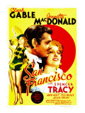 San Francisco  Jeanette Macdonald  Clark Gable  Jeanette Macdonald on Midget Window Card  1936
